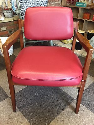 Jens Risom Mid Century Danish design chair with original seat and back