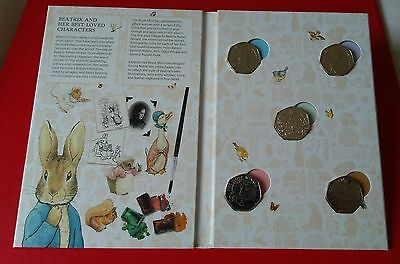 The 2016 Beatrix Potter 50p Coin Collector Album with all 5 coins