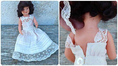 Antique 1930/30s French celluloid doll /petitcollin doll/miniature/eagle dressed