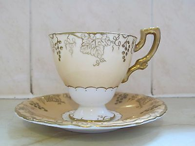 Royal Crown Derby Vine Tea Cup & Saucer Lovely Condition