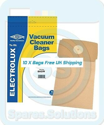 10x Vacuum Cleaner Dust Bags for Electrolux Supair Z326 Z327