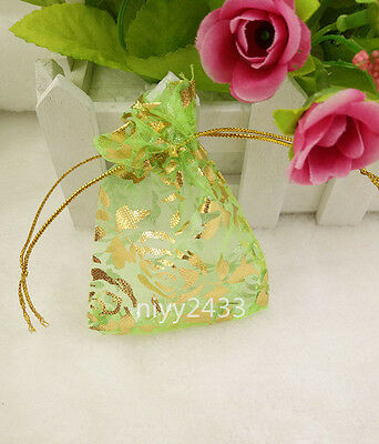 50pcs 7*9cm Jewellery Pouches Packing Organza Gift Bags Wedding Party