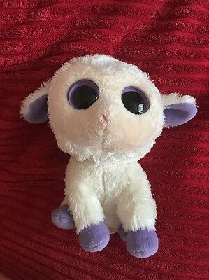 TY BEANIE BOO - CLOVER THE LAMB Toy 2013 Discontinued Rare