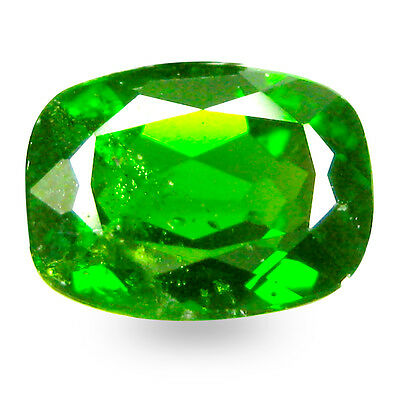 1.60 ct AAA+ Significant Cushion Shape (8 x 6 mm) Green Chrome Diopside Gemstone