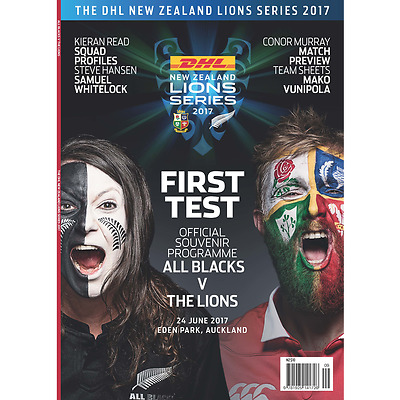 NEW ZEALAND ALL BLACKS v BRITISH & IRISH LIONS 1ST TEST 2017 PROGRAMME