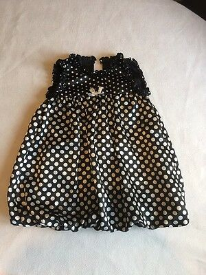 Baby Girls Clothes 12-18 Months - Lovely  Black & White Light Party Dress