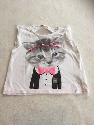 Baby Girls Clothes 12-18 Months-Cute Cat   T Shirt Top