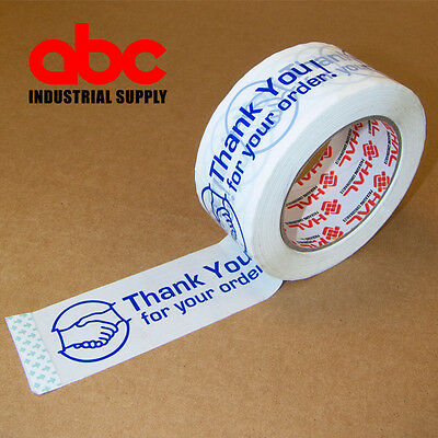 "1 Roll THANK YOU FOR YOUR ORDER Box Shipping Tape 2"" 110 Yds 330ft"