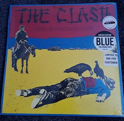 THE CLASH - GIVE 'EM ENOUGH ROPE - hmv 12 inch BLUE 180gm VINYL -LIMITED EDITION