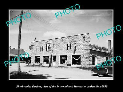 OLD HISTORIC PHOTO OF SHERBROOKE QUEBEC, THE INTERNATIONAL HARVESTER STORE c1950