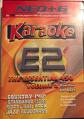 NEO+G Chartbuster Karaoke -E2- The Essential 450 Volume 2- 450 great songs- New