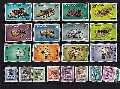 TUVALU; overprint & postage due lot all different; Nice CV$  item 0107