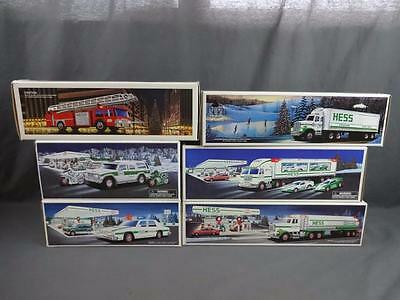 Hess Toy Lot 1986 Fire 1987 Truck 1990 Tanker 1993 Police 1997 Transport '04 SUV