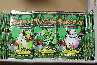 (1) Pokemon Jungle 1999 Booster Pack WOTC Fact. Sealed (Weighed)