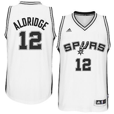 New ADIDAS NBA SWINGMAN JERSEY San Antonio Spurs #12 LaMarcus Aldridge MSRP $110