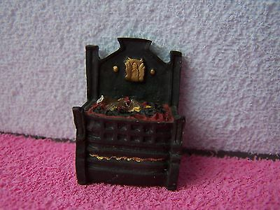 Dolls House, Fire Grate, Black, Silver, Working, Vintage