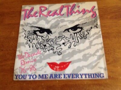 """The Real Thing – You To Me Are Everthing 12"""" THE DECADE REMIX 76-86 EX."""