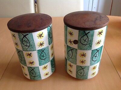 Vintage Arthur Wood Storage Jars (Large) Retro