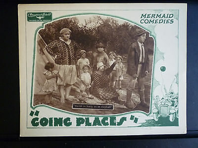 1929 Going Places - Exc. Cond. Lobby Card - Silent - Our Gang Clones - Camping
