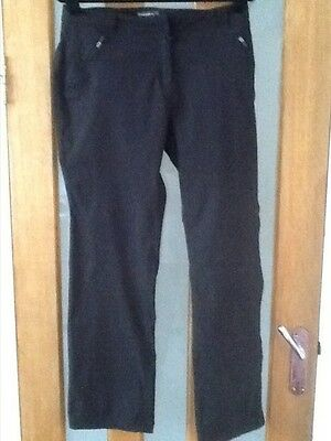 Ladies Black Craghoppers Pro Stretch Walking Trousers - Size 18R
