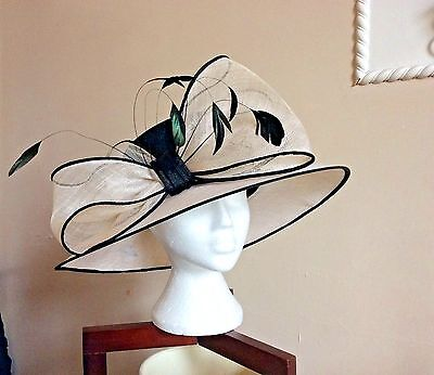Ladies Hatbox Hat With Feathers Wedding Special Occasion Lovely Debenhams
