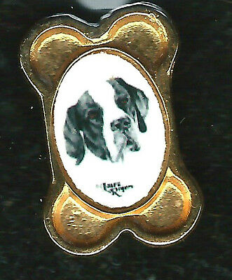 POINTER -GOLD PLATED? LAPEL PIN/ TIE TAC-New On Original display card - Look!