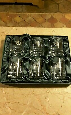 MG SPORTS CAR CLUB Set of Six Boxed WHISKY GLASSES.