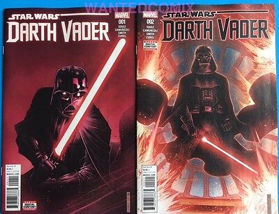Star Wars Darth Vader #1 &  #2 June 2017 Marvel Comic Book New Series Dark Sith
