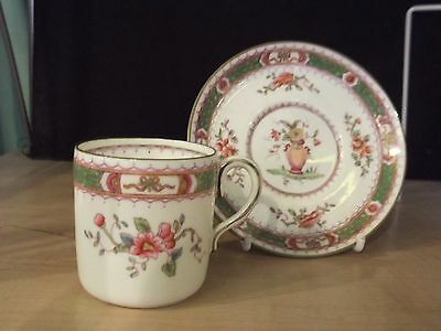 "VINTAGE COALPORT COFFEE CUP & SAUCER ""FRENCH NOBLE"" PATTERN No7177"