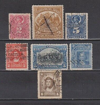 Chile - 1878-1915 - 7 Different Stamps