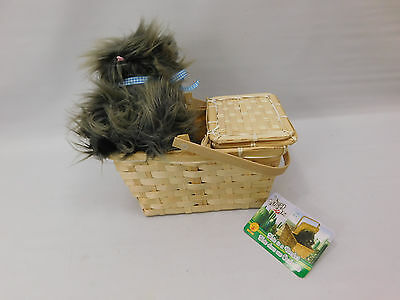 DELUXE TOTO in a BASKET Wizard of Oz Dorothy Dog Costume Accessory LICENSED