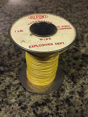 Vintage Antique DuPont Connecting Wire Spool-Copper-Mining/Blasting/Explosives
