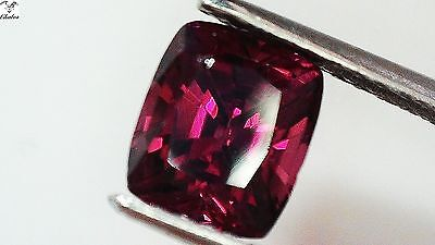 1x Rodolith Granat -  Cushion facettiert 1,66ct. 6,6x5,7x4,7mm (1470)