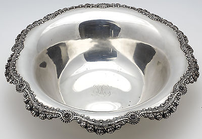 "Tiffany & Co  Antique Sterling Silver 12.50"" Fruit Bowl- Circa 1910"