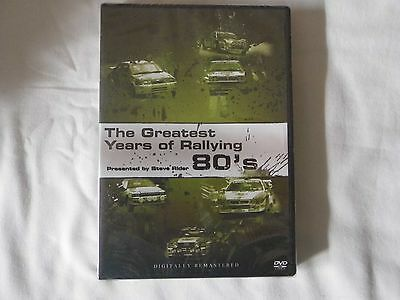 The Greatest Years of rallying 80's DVD UNOPENED Rally Motorsport