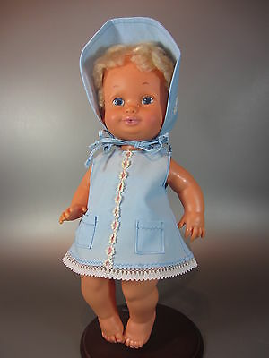 "Vintage Hasbro Don't Cry BABY DOLL 15"" with original clothes 1976 Collectible"