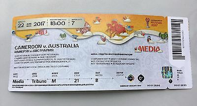 Cameroon - Australia 22/06/2017 FIFA Confederations Cup used ticket media press