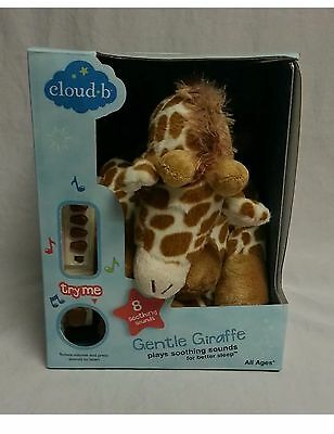 Nib Gentle Giraffe On The Go Cloud B Plush Soothing Sounds Sleep Baby Storybook