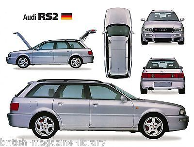 Audi RS2 5-way Picture Illustration - Laser Poster Print