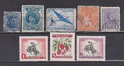Uruguay - 1900-1954 - 8 Different Stamps (Last 3 Mh)