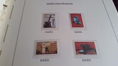 Norfolk Island 1991 Sg 512-515 Museums Mnh