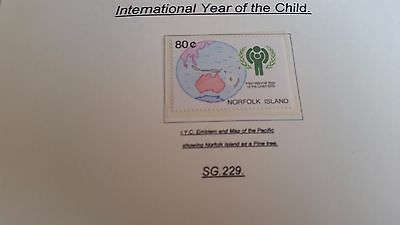 Norfolk Island 1979 Sg 229 International Year Of The Child  Mnh