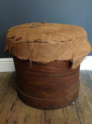 Vintage Bentwood Lidded Drum Container