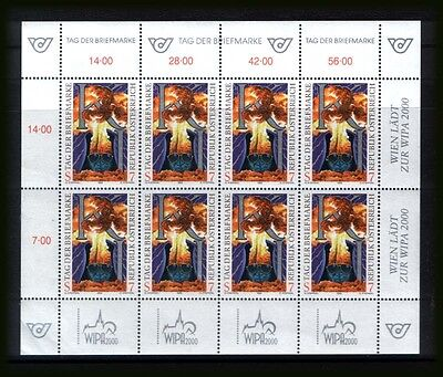 """AUSTRIA 1999 :  MNH** sheetlet for  """"Stamp Day""""  &  """"WIPA 2000""""."""