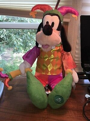 "Goofy Jester From Disney Store 18 "" With Tag"