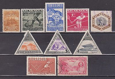 Nicarágua - 1892-1953 - 10 Different Stamps - Mh/mng/used