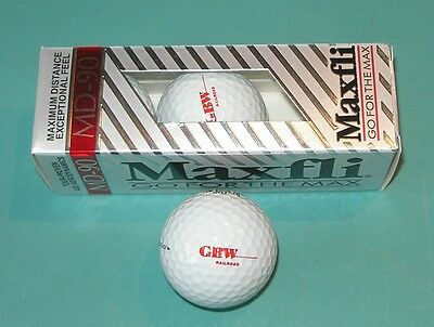 Lot of 3 Golf Balls Green Bay and Western Railroad GBW Wisconsin Central Maxfli