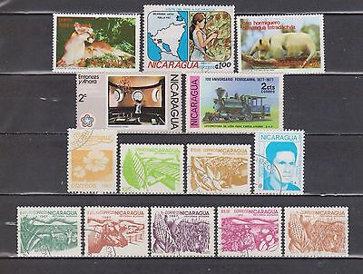 Nicarágua - 1974-1988 - 14 Different Stamps