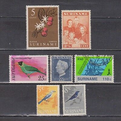 Suriname - 1943-1988 - 7 Different Stamps