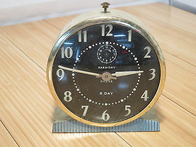 Antique Vintage Ingraham Harmony House 8 Day Alarm Clock For Parts or Repair